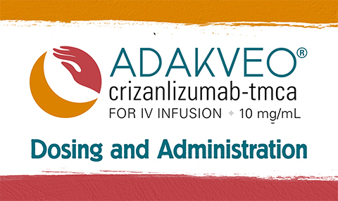 ADAKVEO dosing and administration video