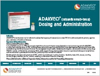 ADAKVEO dosing and administration guide