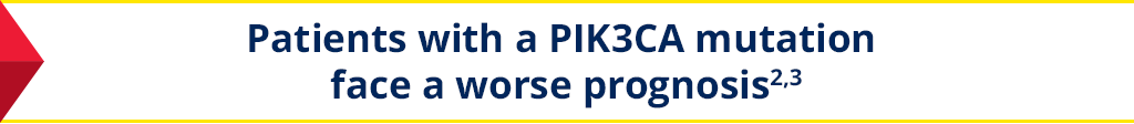 Patients with a PIK3CA mutation face a worse prognosis