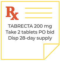 TABRECTA™ (capmatinib) tablets 200 mg Take 2 tablets PO BID Disp 28-day supply